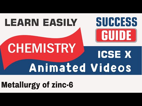ICSE  CLASS X CHEMISTRY -Metallurgy of zinc-6- BY SUCCESS GUIDE. PLEASE SUBSCRIEBE, LIKE AND SHARE.
