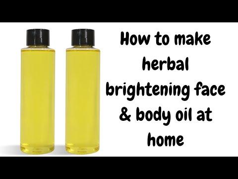 VITAMIN C GLOW OIL | DIY HERBAL BRIGHTENING OIL | HOW TO MAKE ORGANIC FACE & BODY GLOW OIL