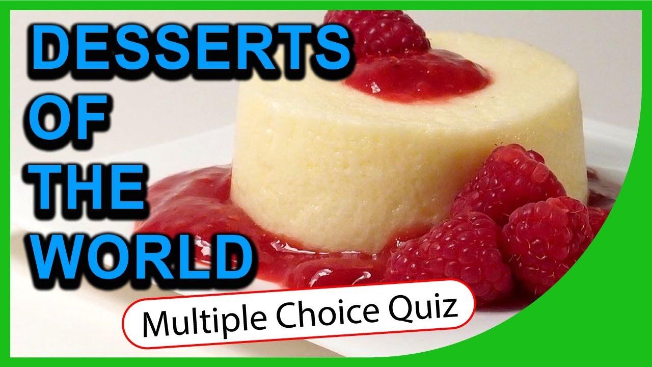 Q★ | Desserts of the World | MULTIPLE CHOICE QUIZ | Q-Star Quiz Channel