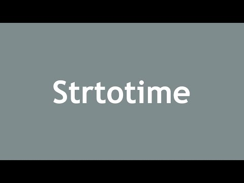 Php strtotime accepted formats