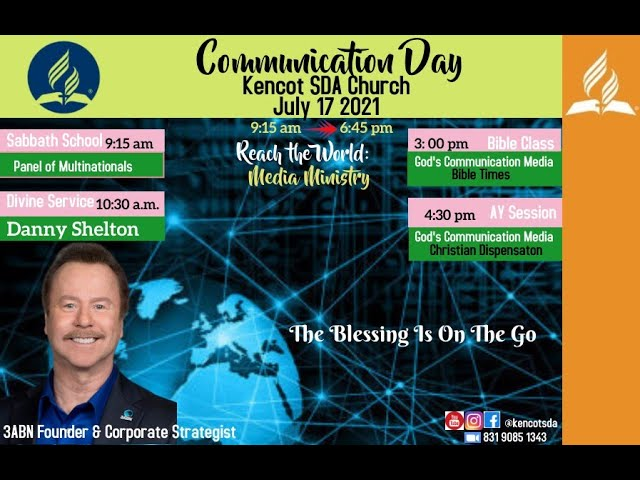 Kencot SDA - Bible Study, Adventist Youth & Vespers Services -  July 17 , 2021