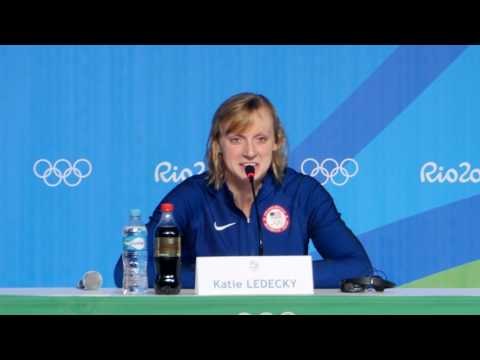 Katie Ledecky Speaks To The Media In Rio