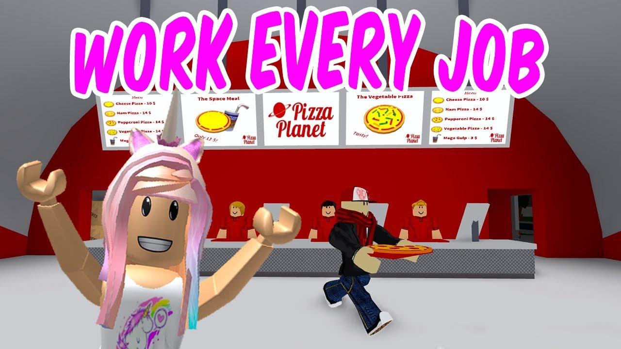 ROBLOX Bloxburg Work Every Job Challenge - YouTube