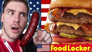 MIKE VS CIBO AMERICANO - (QUESTO VIDEO FA INGRASSARE) FOOD LOCKER #7 Los Angeles