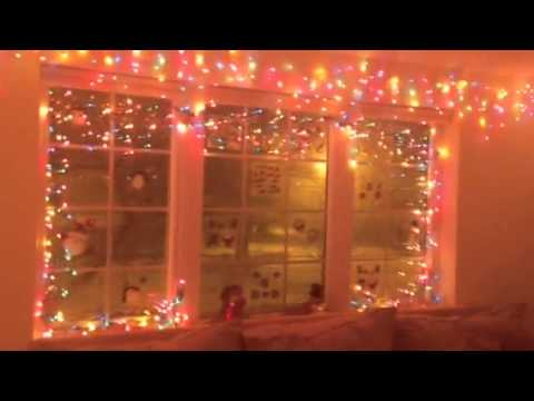 Christmas decorating using Christmas lights indoors - YouTube
