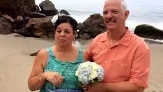 Wedding testimonial from a deaf couple in Malibu After they took a plunge into the Ocean.
