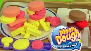 Pâte à modeler Moon Dough Hamburgers Frites Play Doh Cookie Monster Macaron le glouton