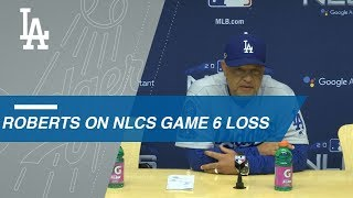 NLCS Gm6: Roberts on loss, facing Chacin in Game 7