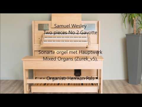 Samuel Wesley Two pieces No 2 Gavotte (Hauptwerk organ)