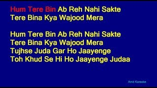 Tum Hi Ho - Arijit Singh Hindi Full Karaoke with Lyrics