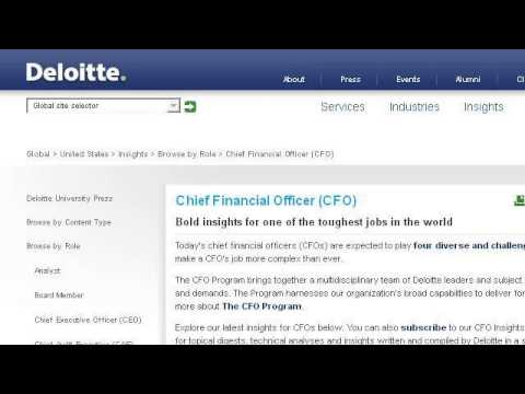 Responsibilities Of A Chief Financial Officer