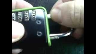 How to change forgotten or lost code on a coded padlock