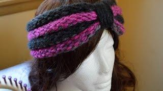 Loom Knit Tutorial Gathered Ridges Ear Warmers Start to Finish Beginner