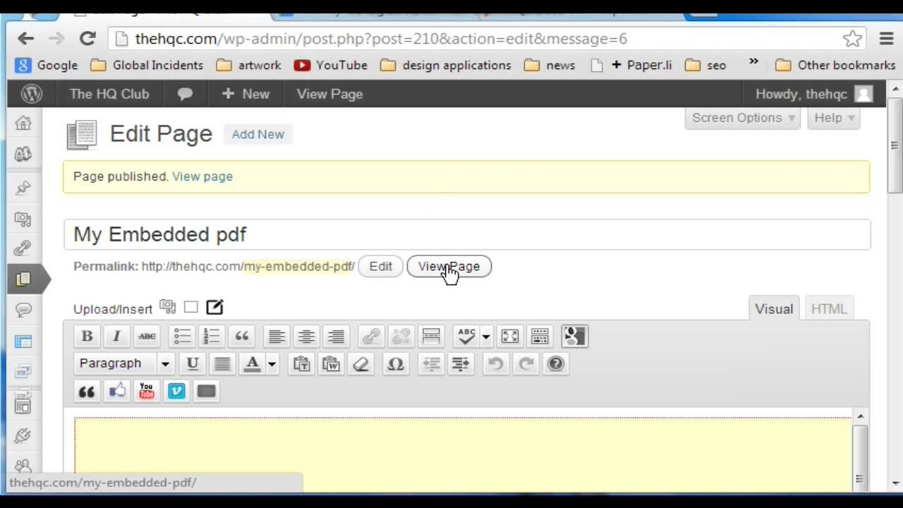 Website html from pdf