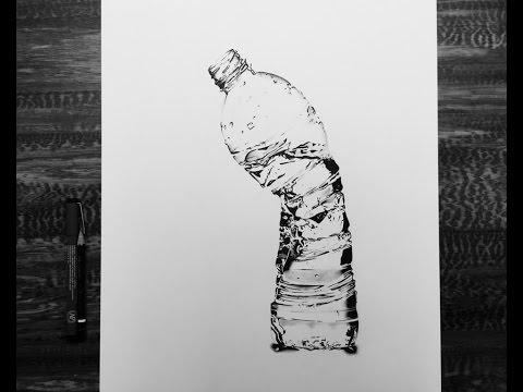 Water bottle drawing.