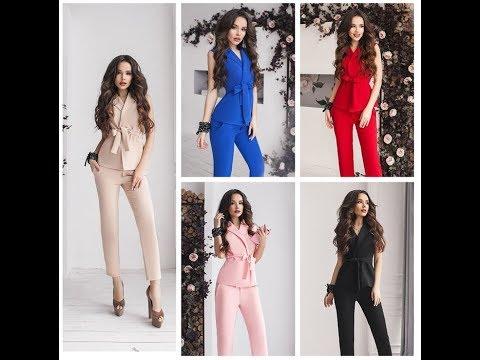 Хит продаж 2019 - женский костюм жилет + брюки в стиле романтик!