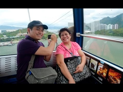 Riding The Ngong Ping 360 Cable Car with Hong Kong's MTR Train