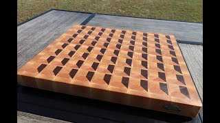 Making one of MTM Wood's 3D End Grain Cutting Board Designs.