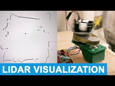 Rotating 360 LIDAR Scanner - Mapping a room