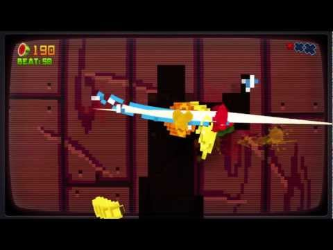 Fruit Ninja 8-Bit Cartridge DLC Xbox 360 Kinect 720P Gameplay