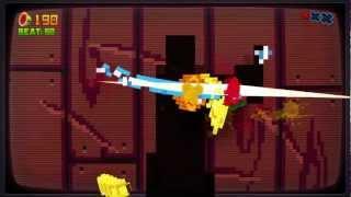 Fruit Ninja 8-Bit Cartridge DLC Xbox 360 Kinect 720P gameplay