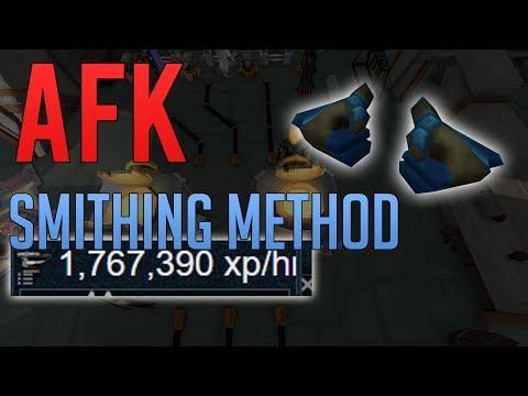 Amazing AFK Smithing XP Guide