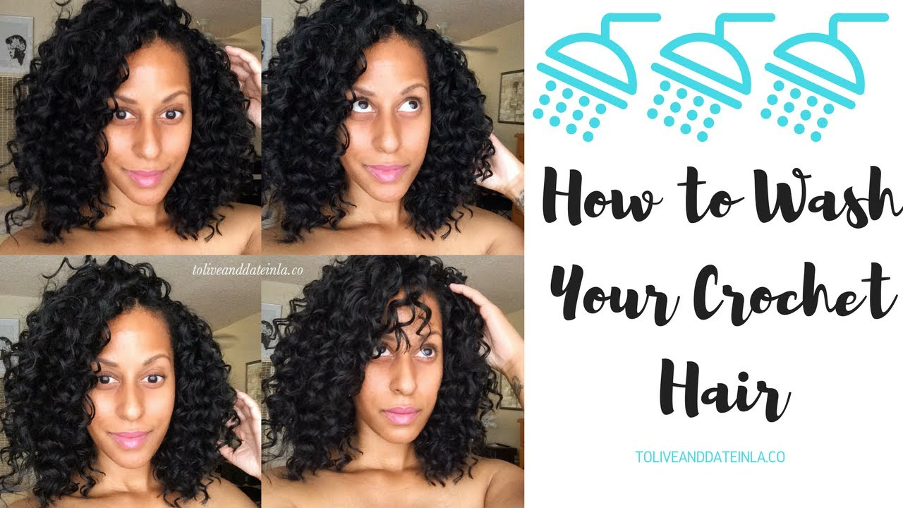 How To Washing Your Crochet Hair Youtube