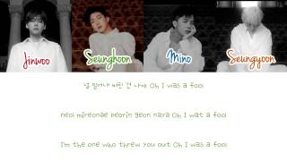 (PIANO INSTRUMENTAL) WINNER - FOOL (Color Coded Han|Rom|Eng Lyrics) yummypiano | seungbin