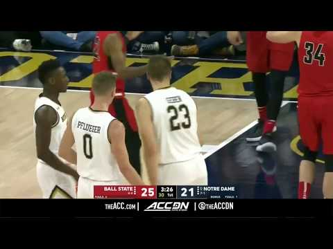 Ball State vs Notre Dame College Basketball Condensed Game 2017