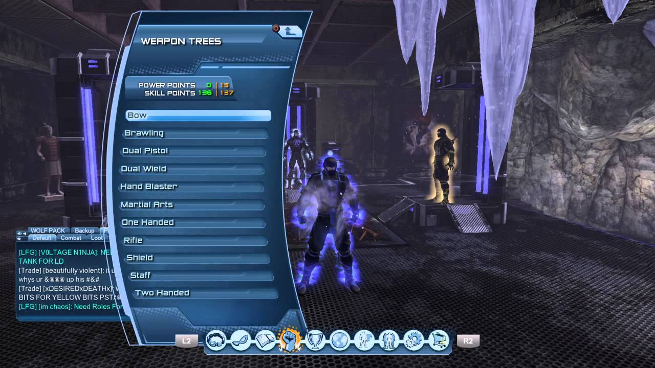 dc universe online ice dps skill and power points no weapon mastery