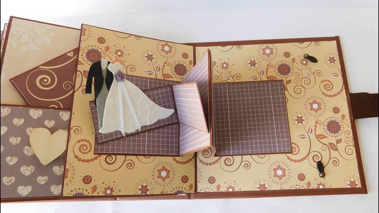 Brown Pop Up Wedding Scrapbook Album Youtube