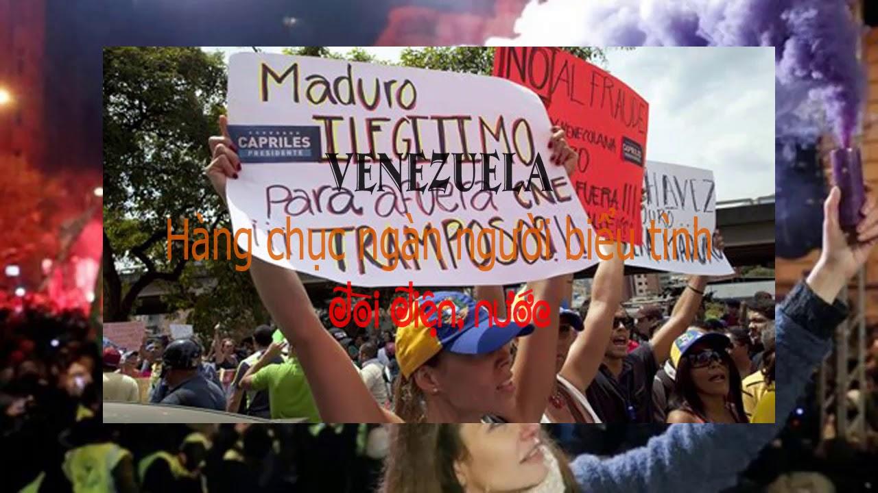 Hàng chục ngàn người biểu tình đòi điện, nước