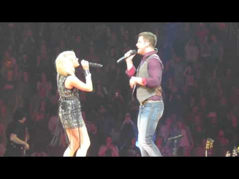 Fishin in the Dark with Easton Corbin and Swon Brothers - Carrie Underwood Pittsburgh 2/17/2016