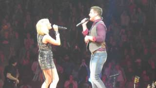 fishin in the dark with easton corbin and swon brothers carrie underwood pittsburgh 2 17 2016