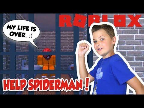 HELP SPIDERMAN ESCAPE THE PRISON in ROBLOX JAILBREAK