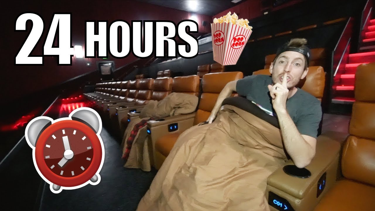 24 hour movie theater overnight fort youtube