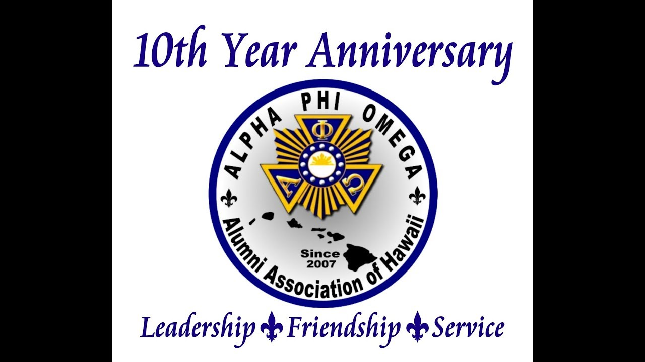Alpha Phi Omega Hawaii 10th Year Anniversary At Waikele Country Club