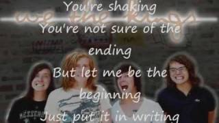We The Kings - The Story Of Your Life (Lyrics on screen)