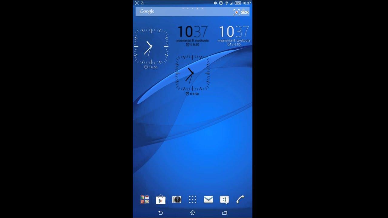 Samsung Galaxy 3d Wallpaper Xperia Z3 Clock Widgets Link Youtube