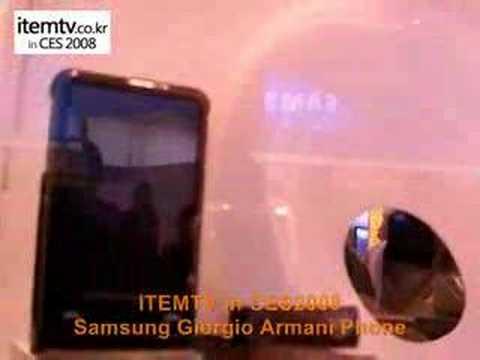 [CES2008]Samsung Armani Phone p520