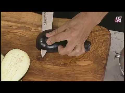 Precauciones a la hora de cortar la berenjena