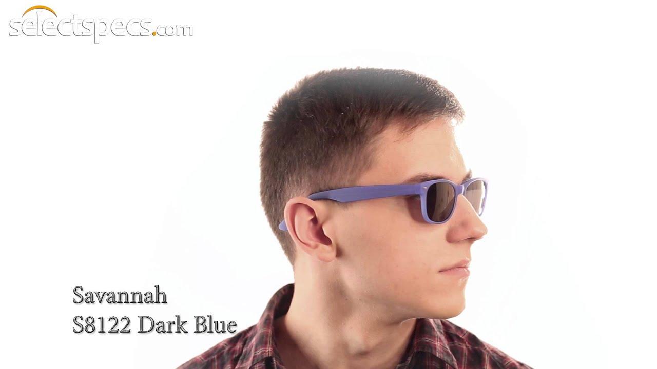 f92b7f9242 Budget Wayfarer-style Sunglasses for Men - Savannah S8122 (Dark Blue).  SelectSpecs