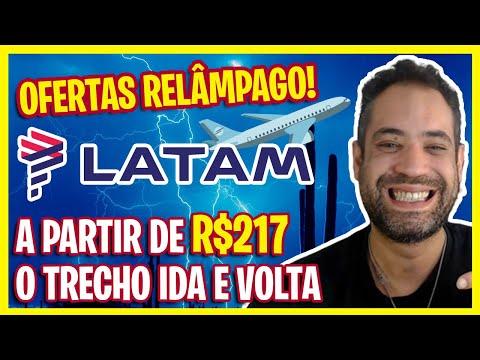 MEGA OFERTAS RELÂMPAGO LATAM! SÓ OS MELHORES PREÇOS! R$217 IDA E A VOLTA!