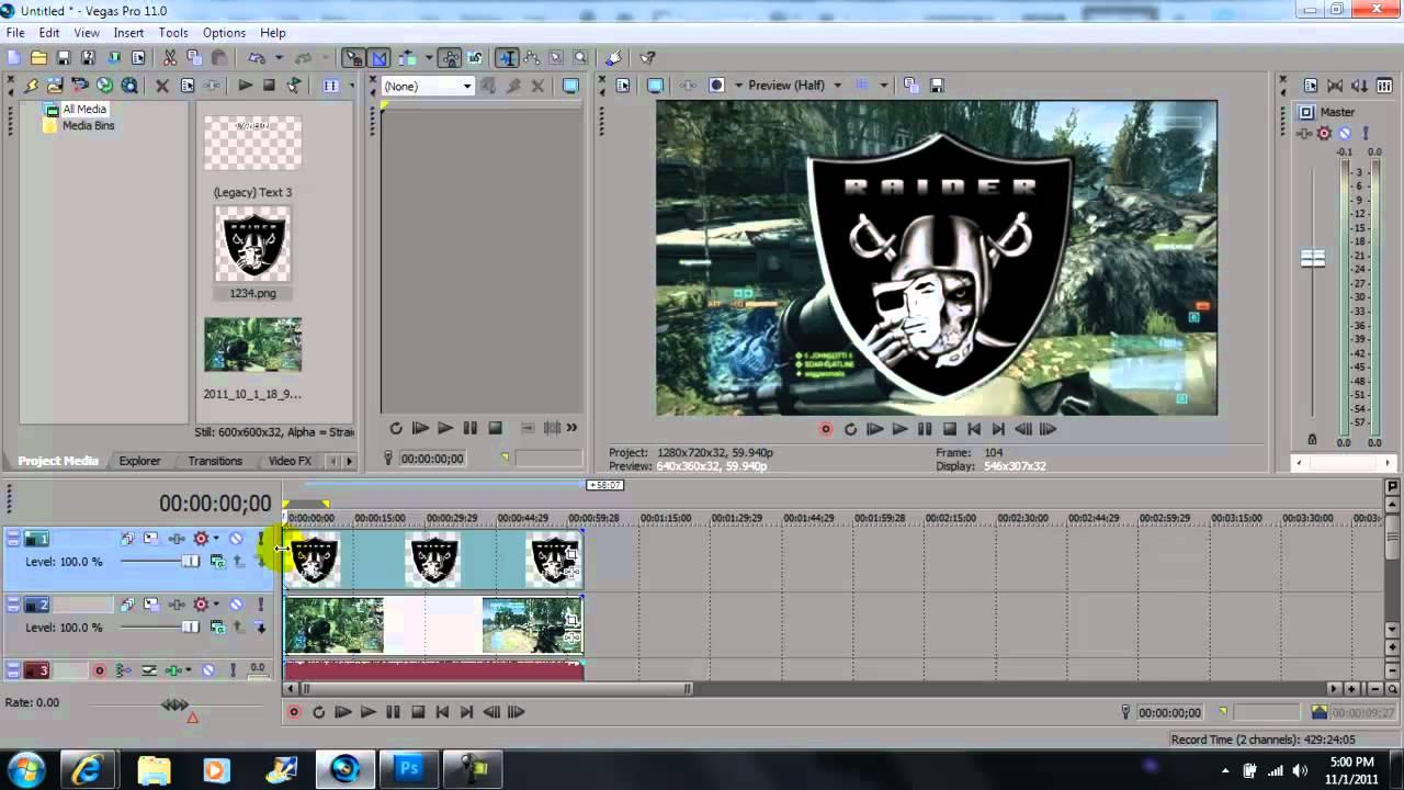 Sony Vegas Pro 11: How To Add A Watermark Tutorial In Sony Vegas Pro 11 Hd   Youtube