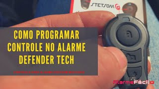 Programar Controle no Alarme Defender Tech