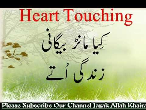 Kia Maanr Begani Zindagi utay Best Punjabi Nazam Heart Touching 1