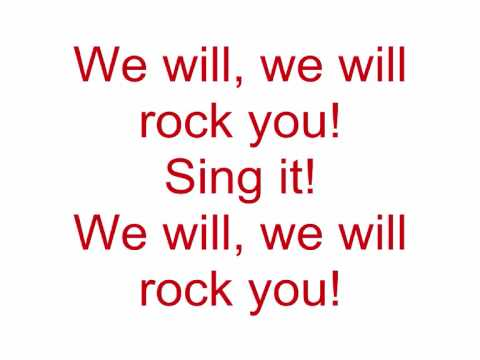 Queen - We will rock you (Lyrics)