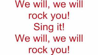 Video Queen - We will rock you (Lyrics) download MP3, 3GP, MP4, WEBM, AVI, FLV Maret 2018