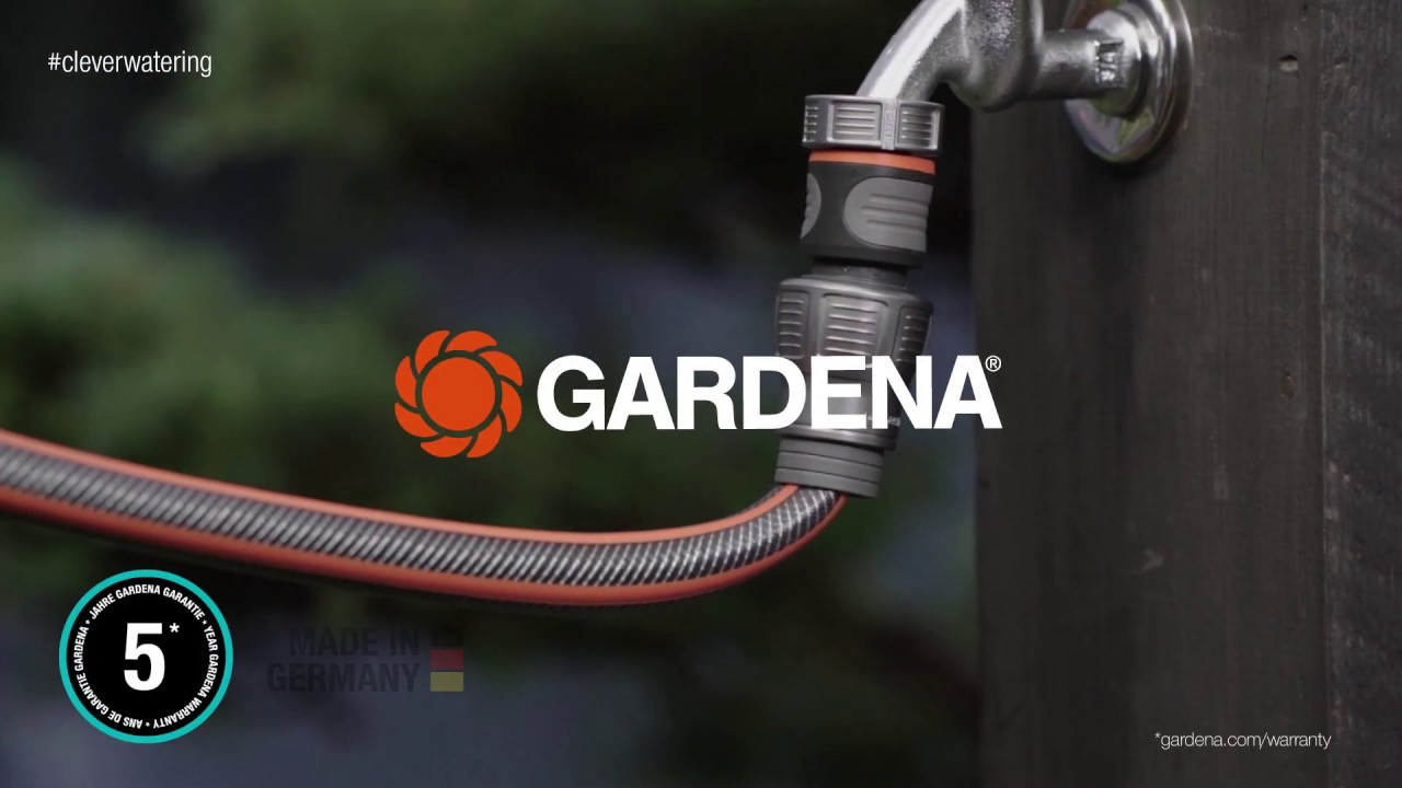 GARDENA BASIC HOSE SET Tap Nut Adaptor+Hose Connector+Spray Nozzle *German Made