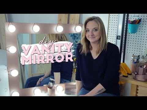 DIY Rose Gold Vanity Mirror Station + DIY Stamp!